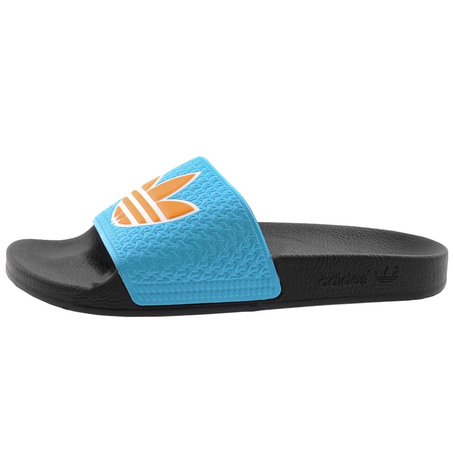 e30c33567f955a Lyst - adidas Originals Adilette Trefoil Flip Flops in Blue for Men