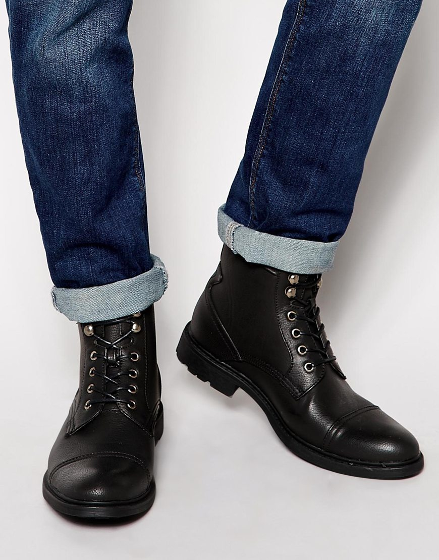 ASOS Worker Boots In Suede