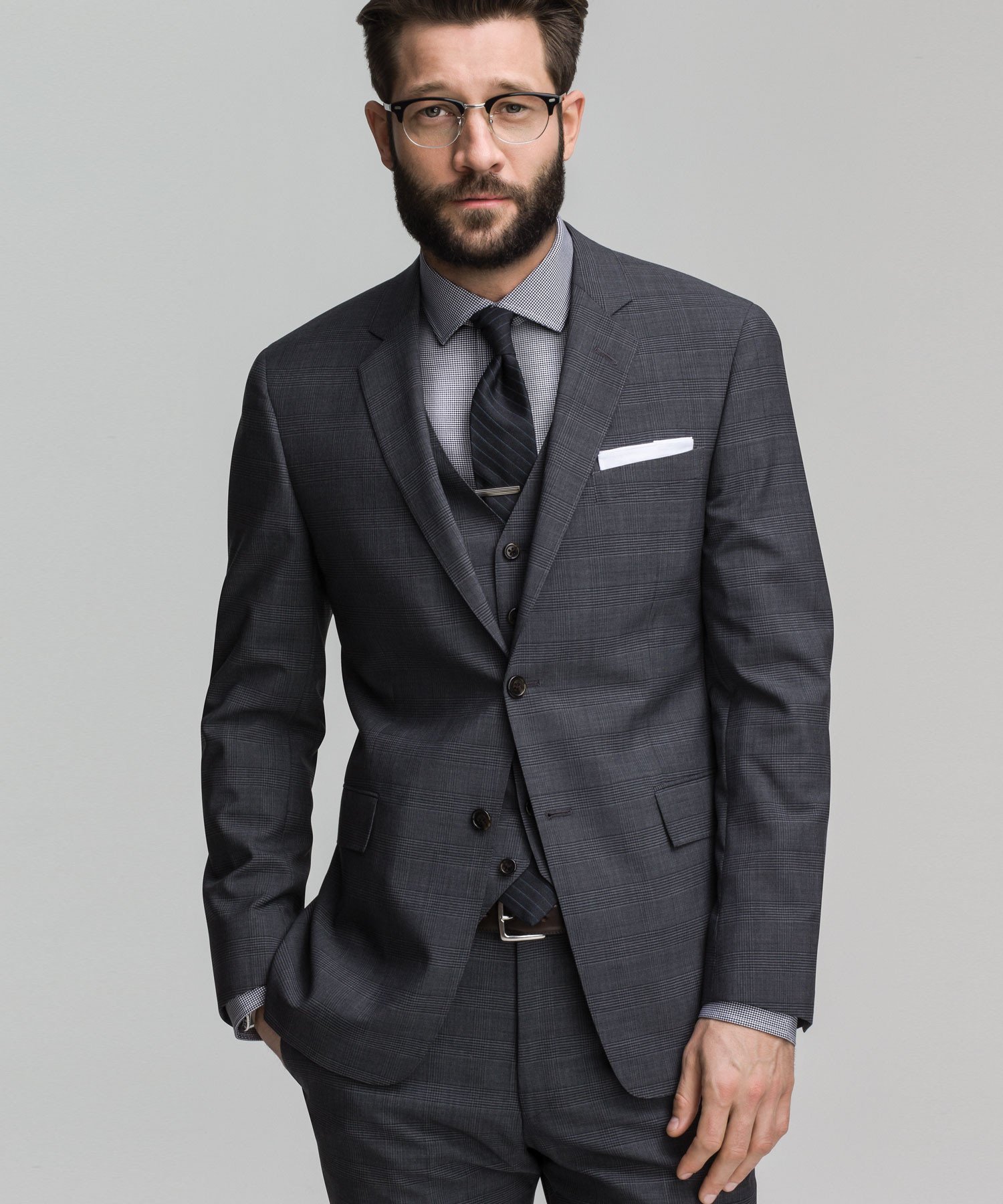 Todd snyder Glen Plaid Mayfair Fit 3 Piece Suit In Dark Grey in ...