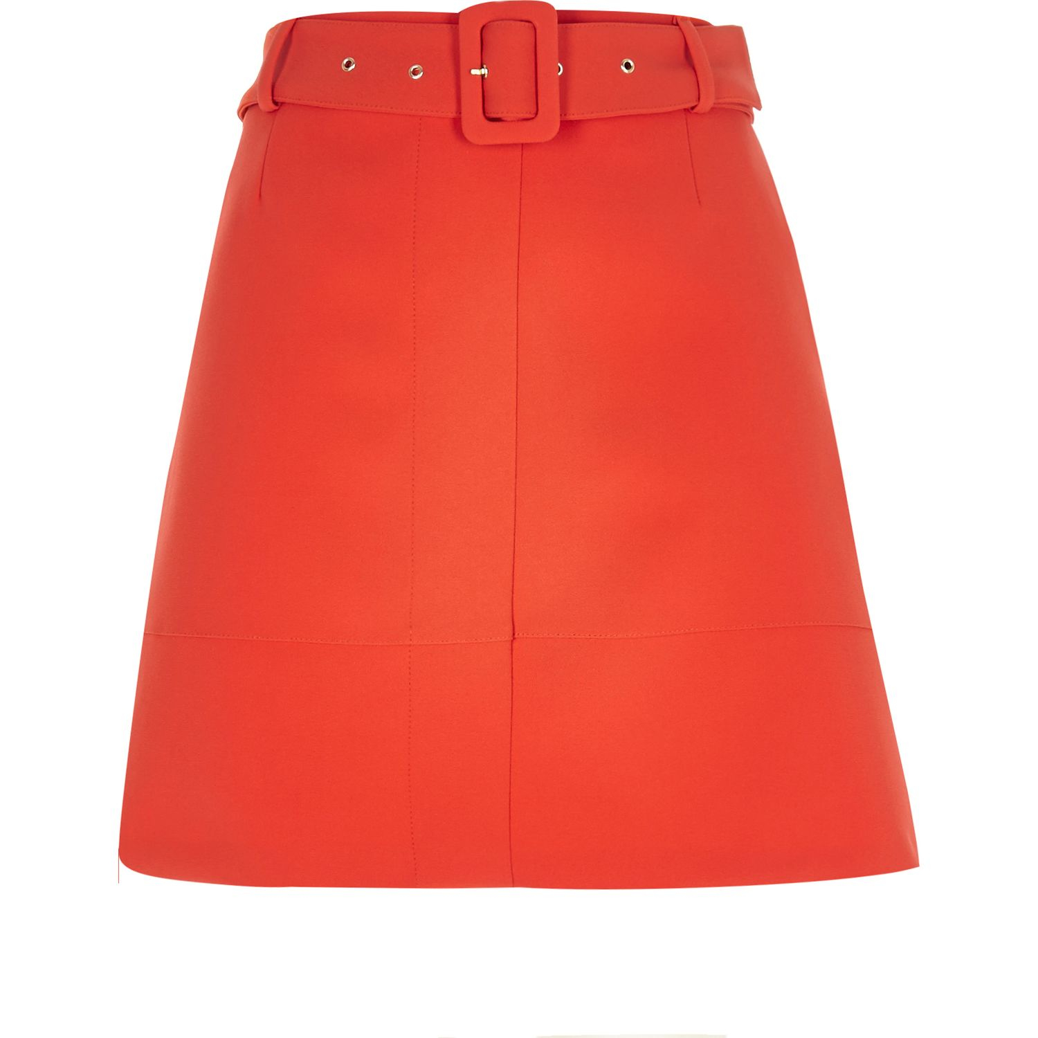River island Red A-line Skirt in Red | Lyst