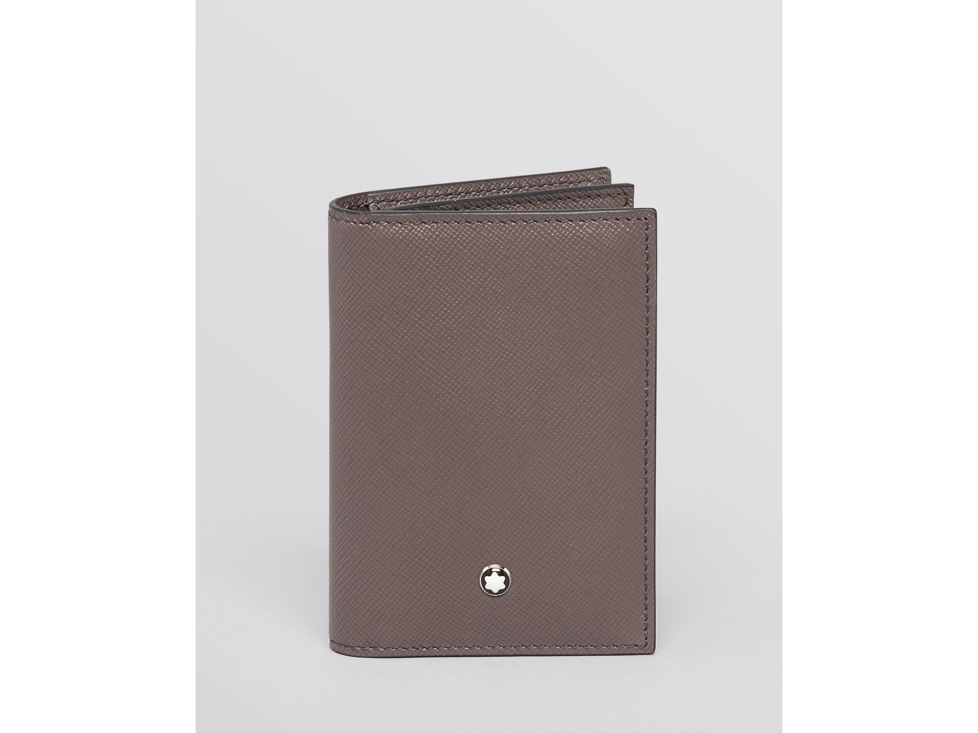 Lyst - Montblanc Meisterstuck Leather Business Card Holder in Gray ...