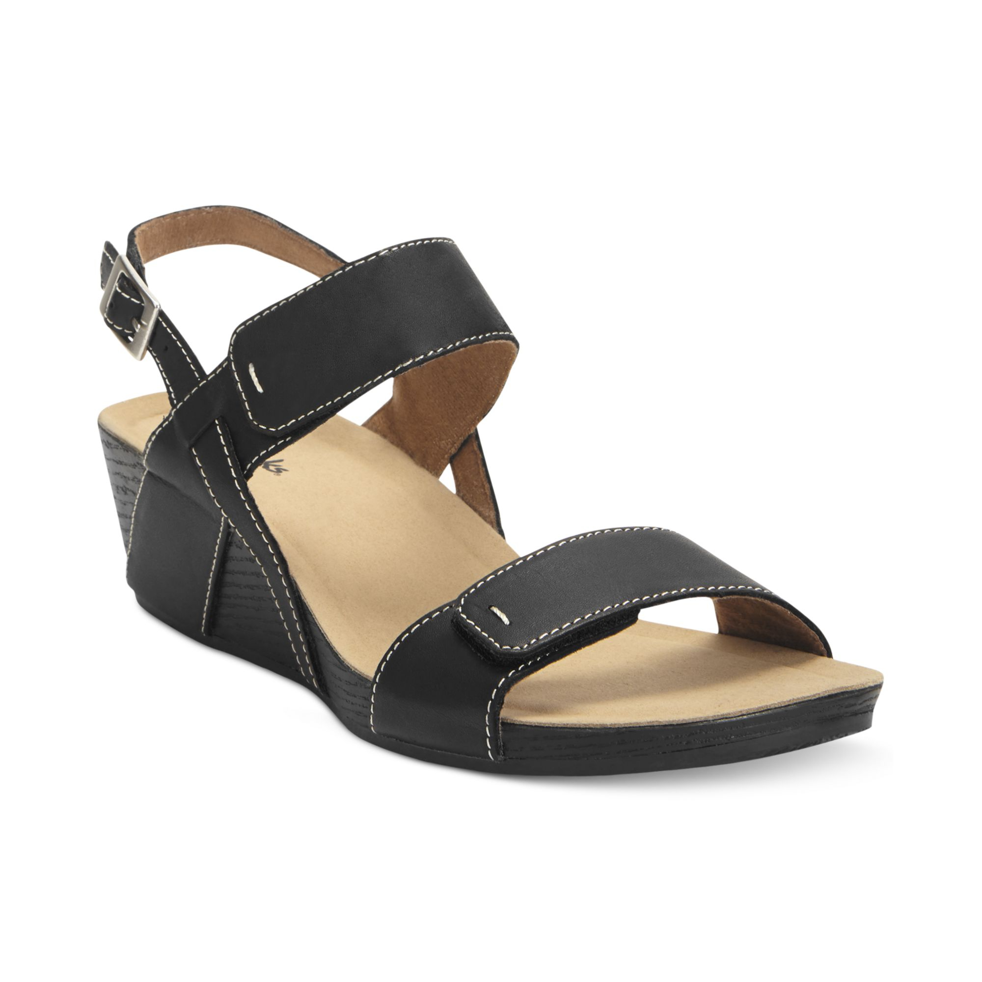 96ce2b5048a6 Lyst - Clarks Alto Disco Platform Wedge Sandals in Black