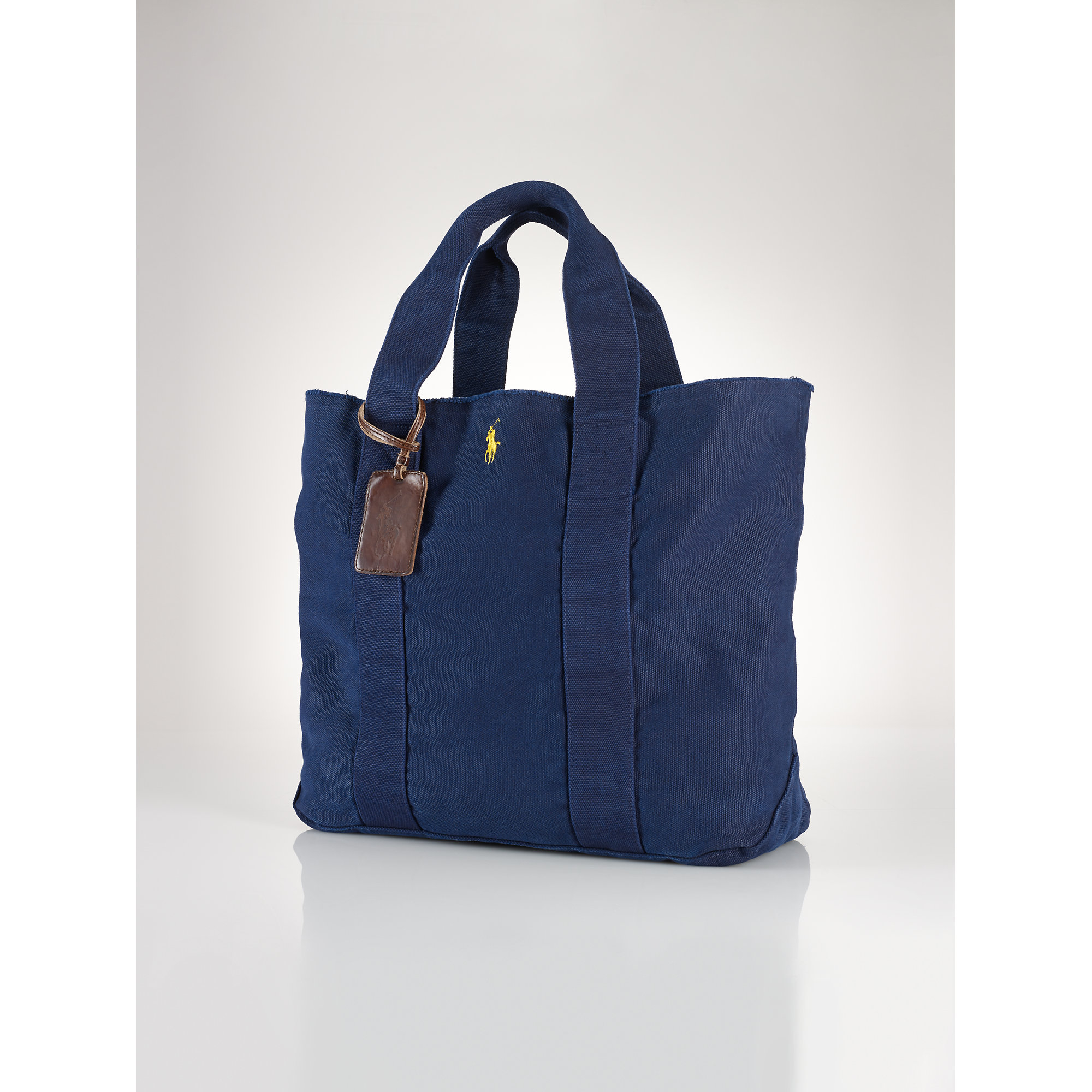 4df93954758 low cost lyst polo ralph lauren pony canvas tote in blue 7c73a 77d5e