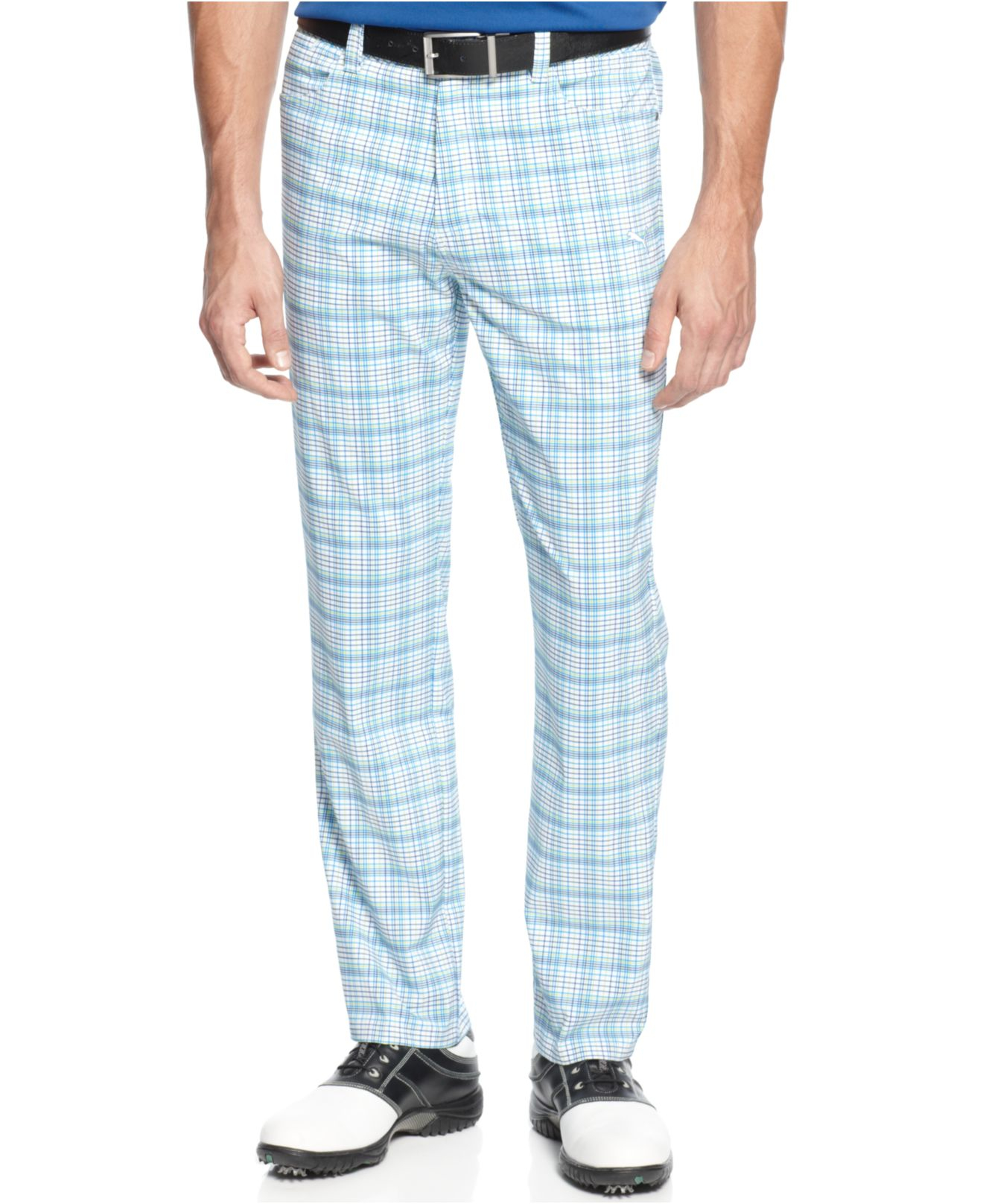 728b7c06ce23 Lyst - PUMA Drycell Tech Plaid Performance Golf Pants in White for Men
