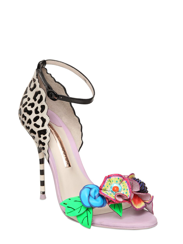 870b92d288c0 Lyst - Sophia Webster 100Mm Lilico Jungle Flower Calf Sandals