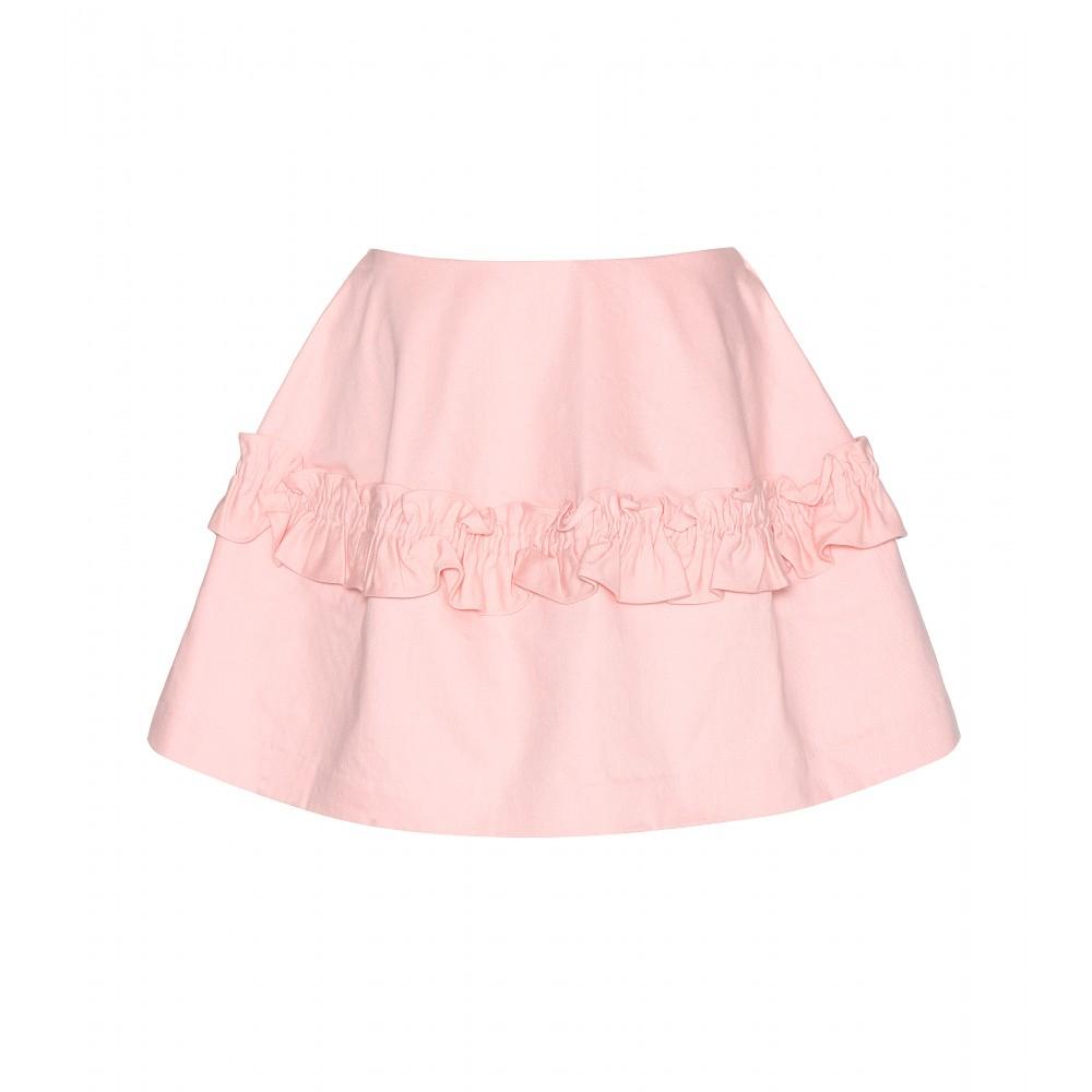 Simone rocha Denim Miniskirt in Pink | Lyst