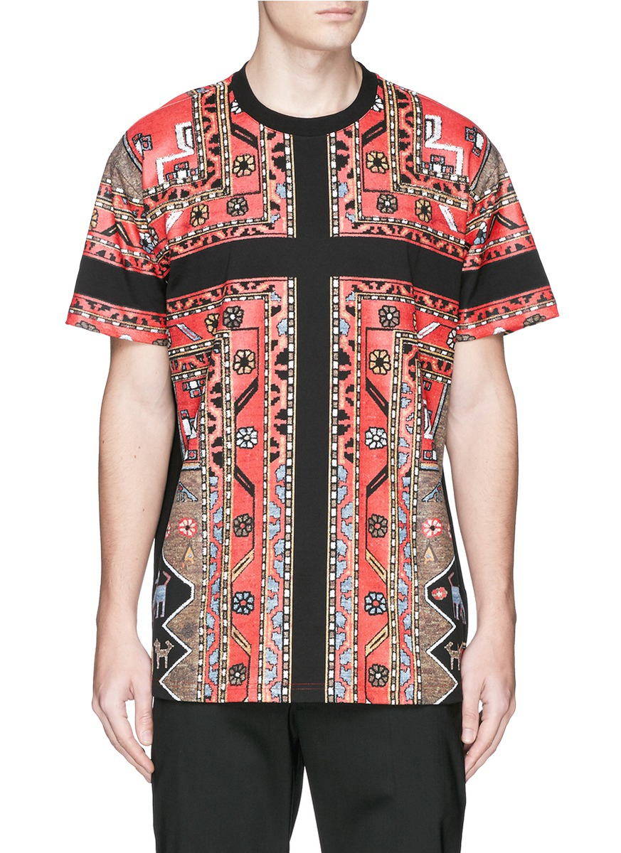 Givenchy Persian Carpet Print T shirt In Blue For Men Lyst