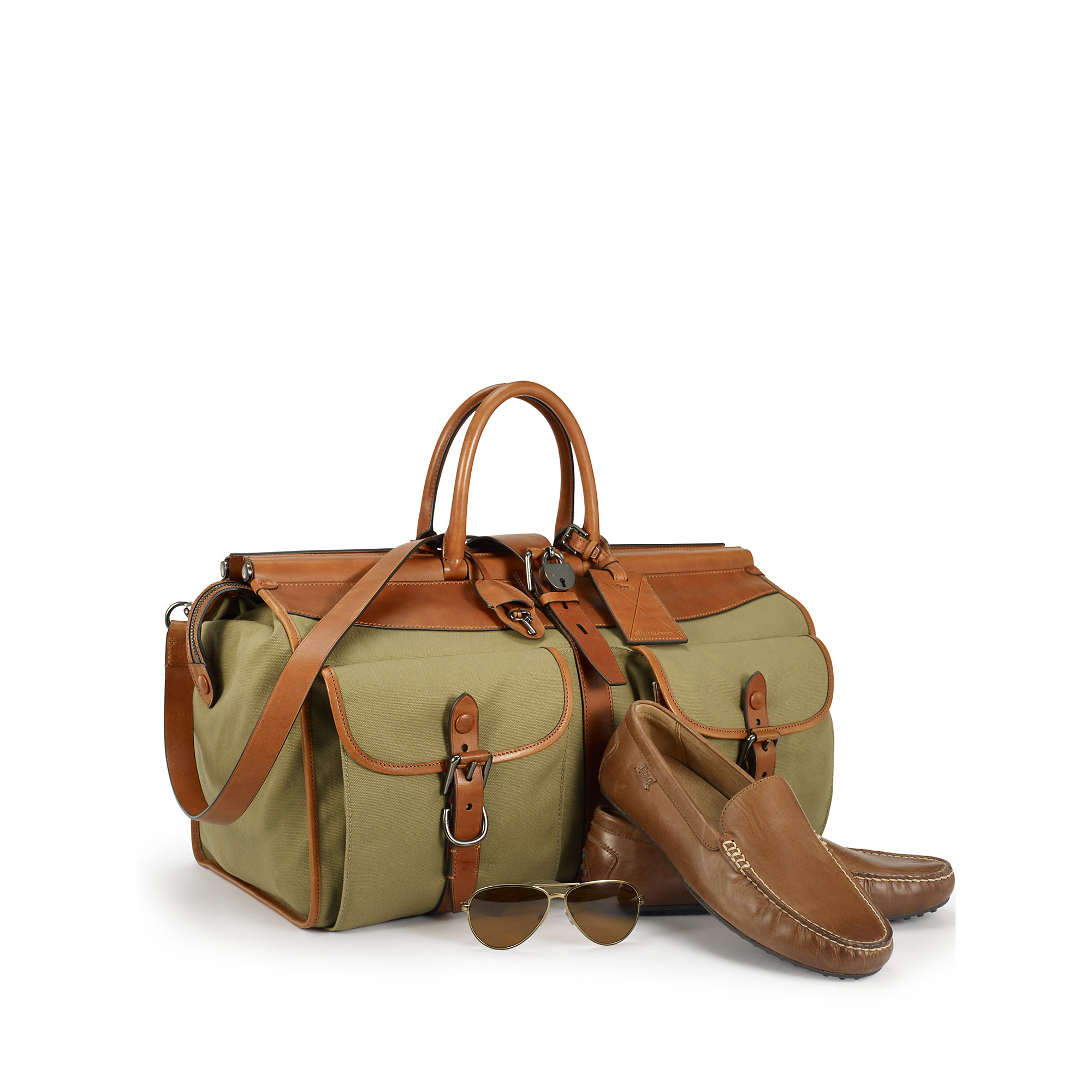 Ralph Lauren Pony Canvas Leather Handbag Rose - Jaimonvoyage.com fa8e099c7e094