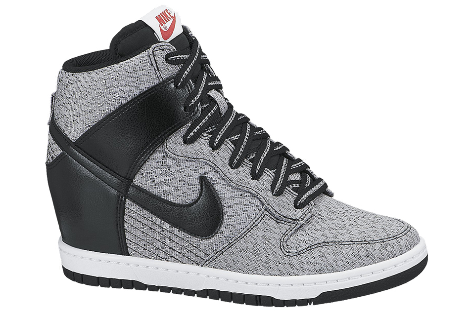 nike dunk sky hi texture in gray lyst. Black Bedroom Furniture Sets. Home Design Ideas