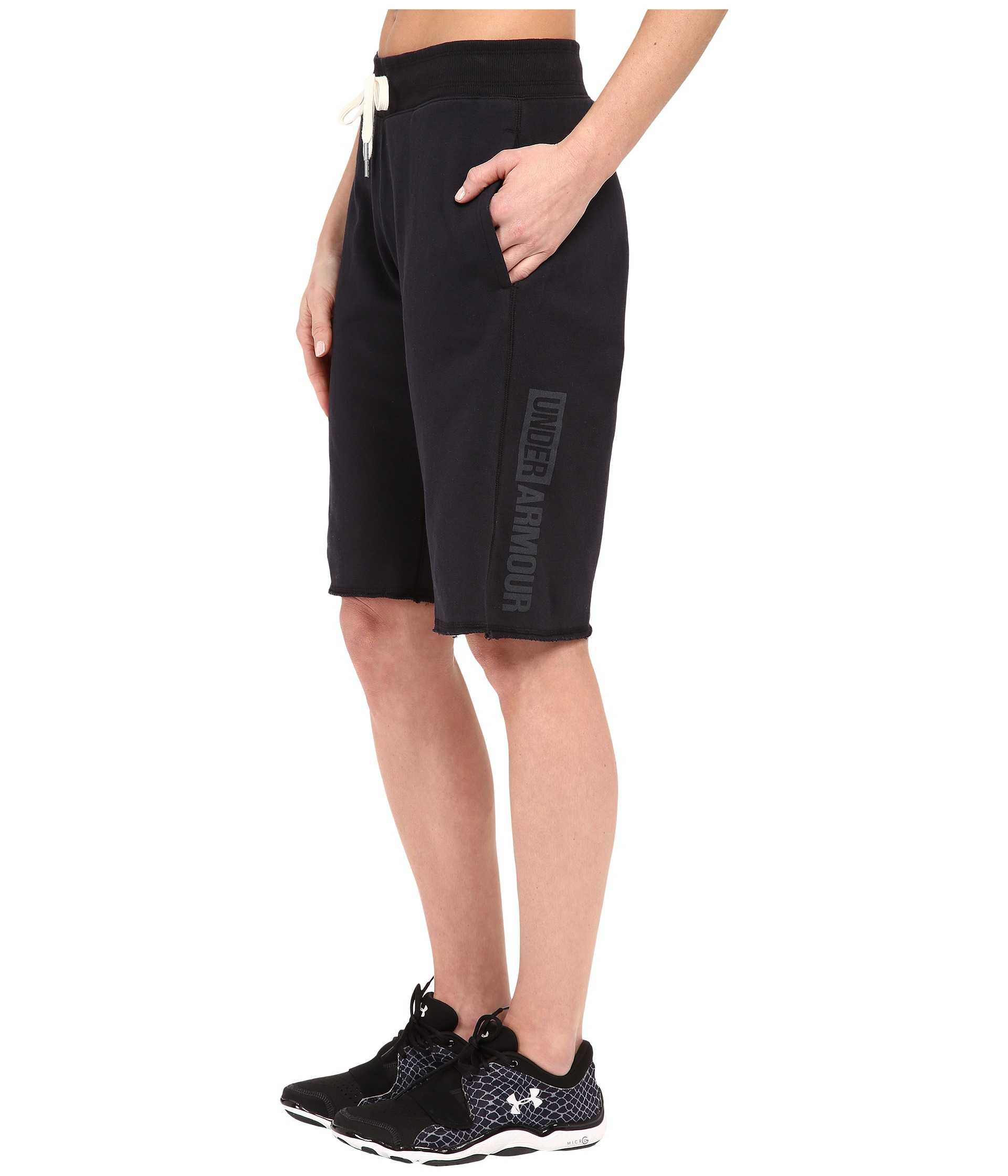 Lyst - Under Armour Favorite French Terry Boyshorts in Black for Men cf9342496b6a