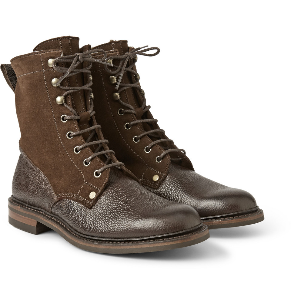 Lyst Cheaney Scott Shearling Lined Boots In Brown For Men