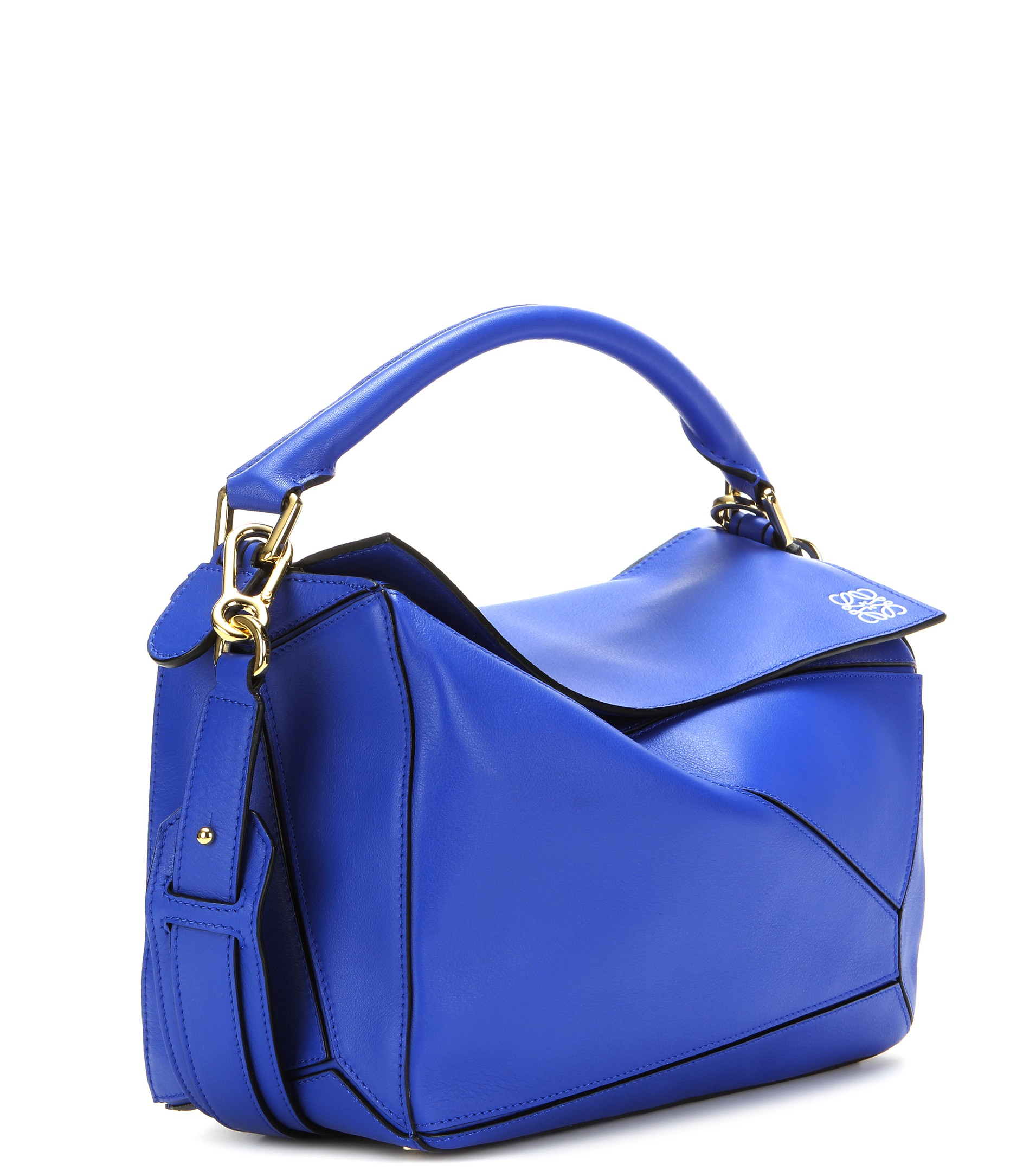 Loewe Puzzle Leather Shoulder Bag in Blue