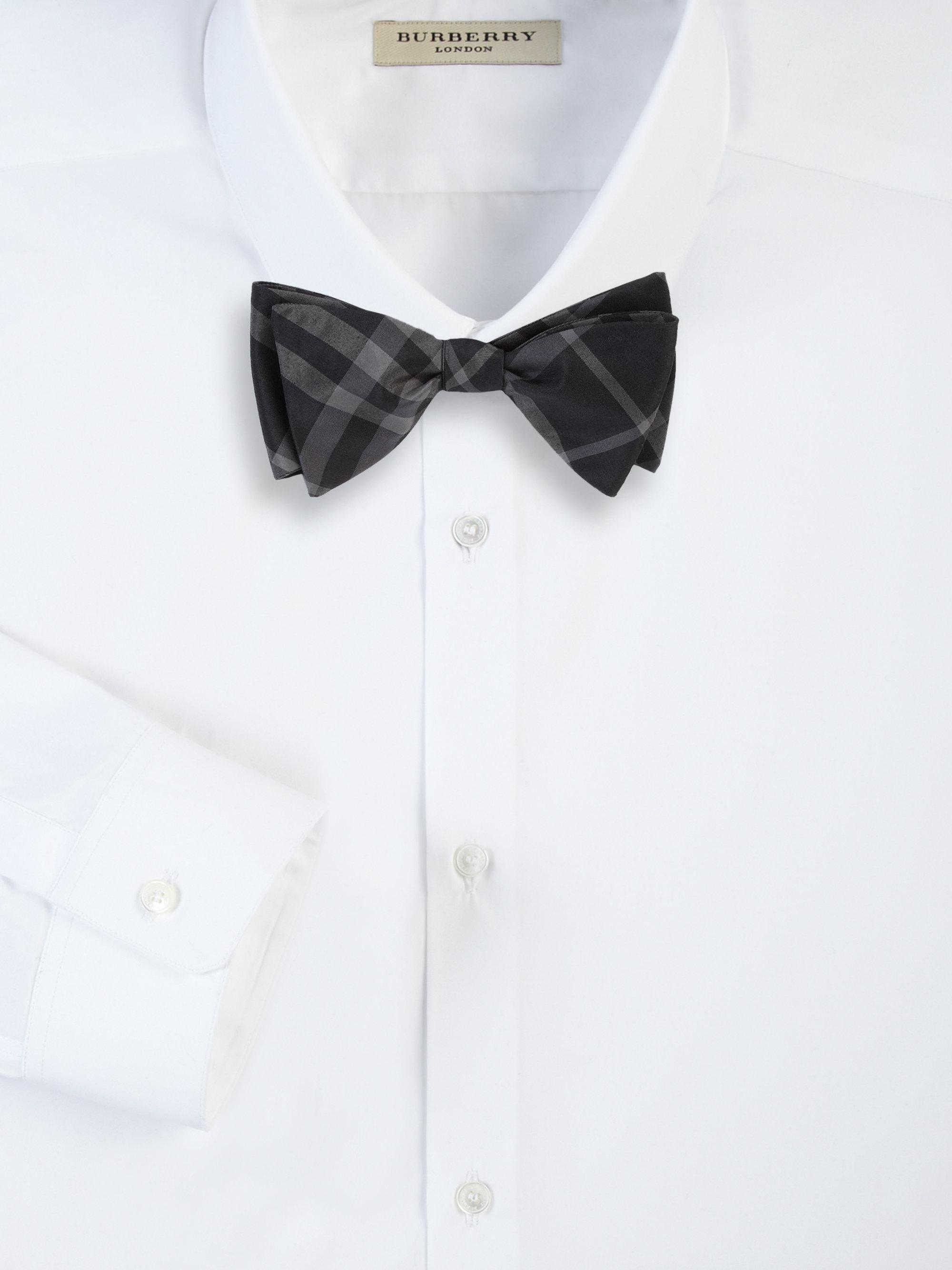 Preferred Lyst - Burberry Blake Narrow Check Bow Tie in Black for Men XP63 dd5017f70f63