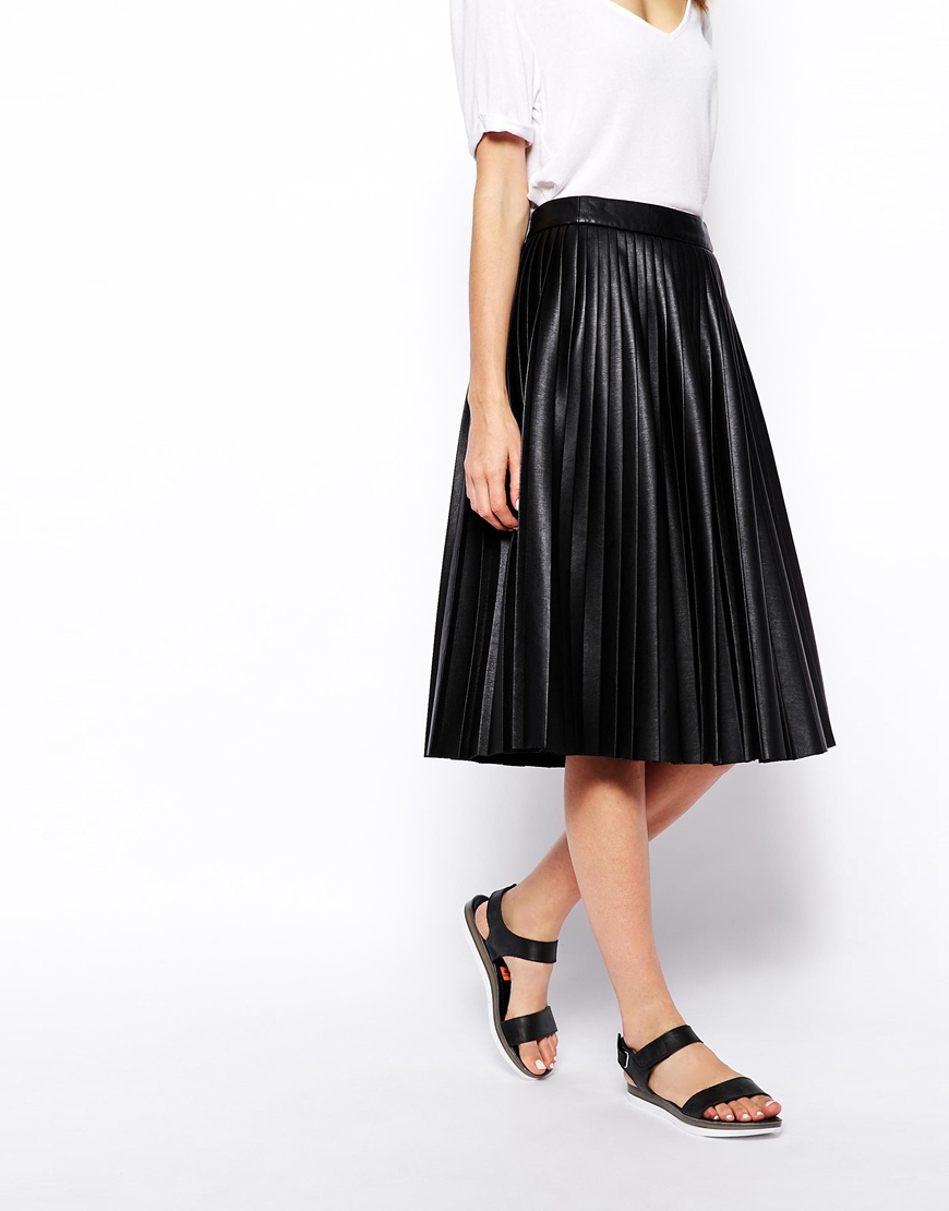 River Island studio leather midi skirt with zip front in black. $ ASOS DESIGN leather look wrap midi skirt. $ ASOS DESIGN midi skirt with kickflare in polka dot. $ Missguided knitted midi skirt in khaki. $ Outrageous Fortune sequin midi bodycon skirt in rainbow stripe.