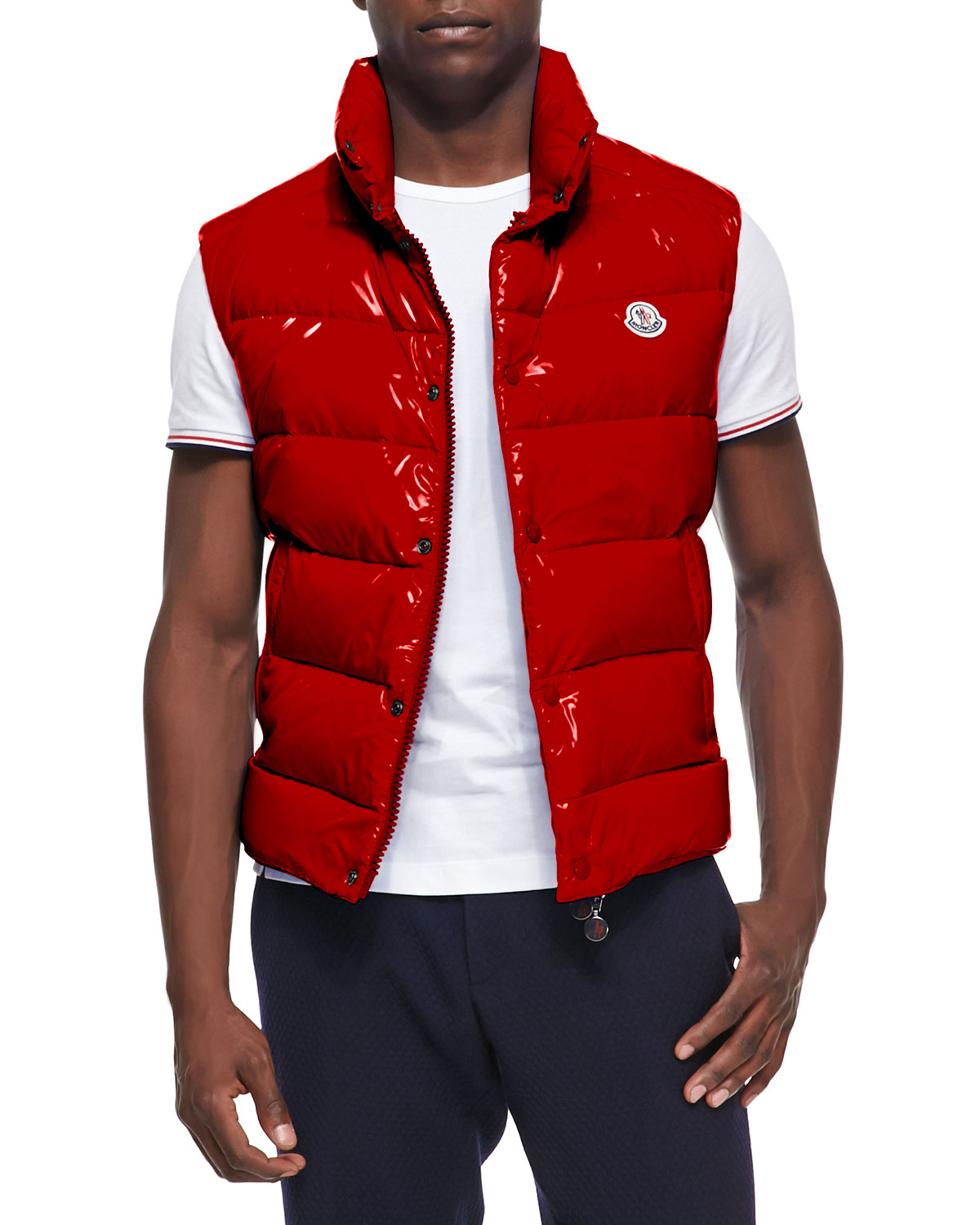 red moncler puffer