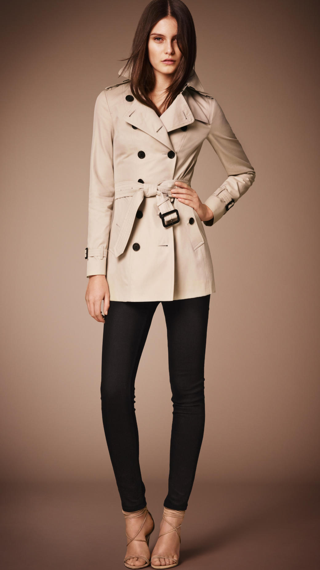 Burberry The Sandringham - Short Heritage Trench Coat in Natural ...