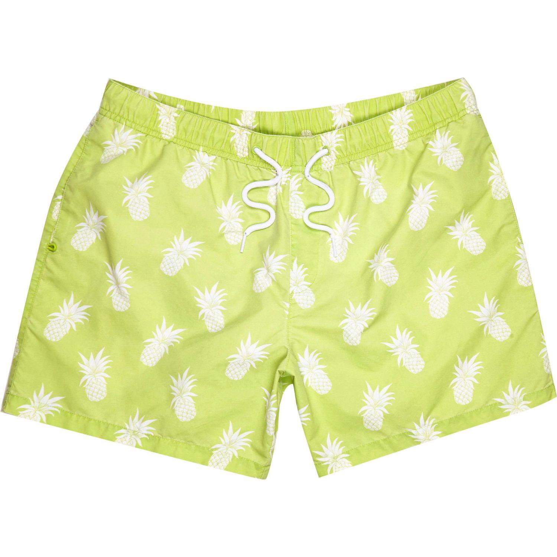 Mens Green chilli print short swim shorts River Island Get Authentic For Sale Hot Sale Cheap Price Best Seller YSSJ1RIhv