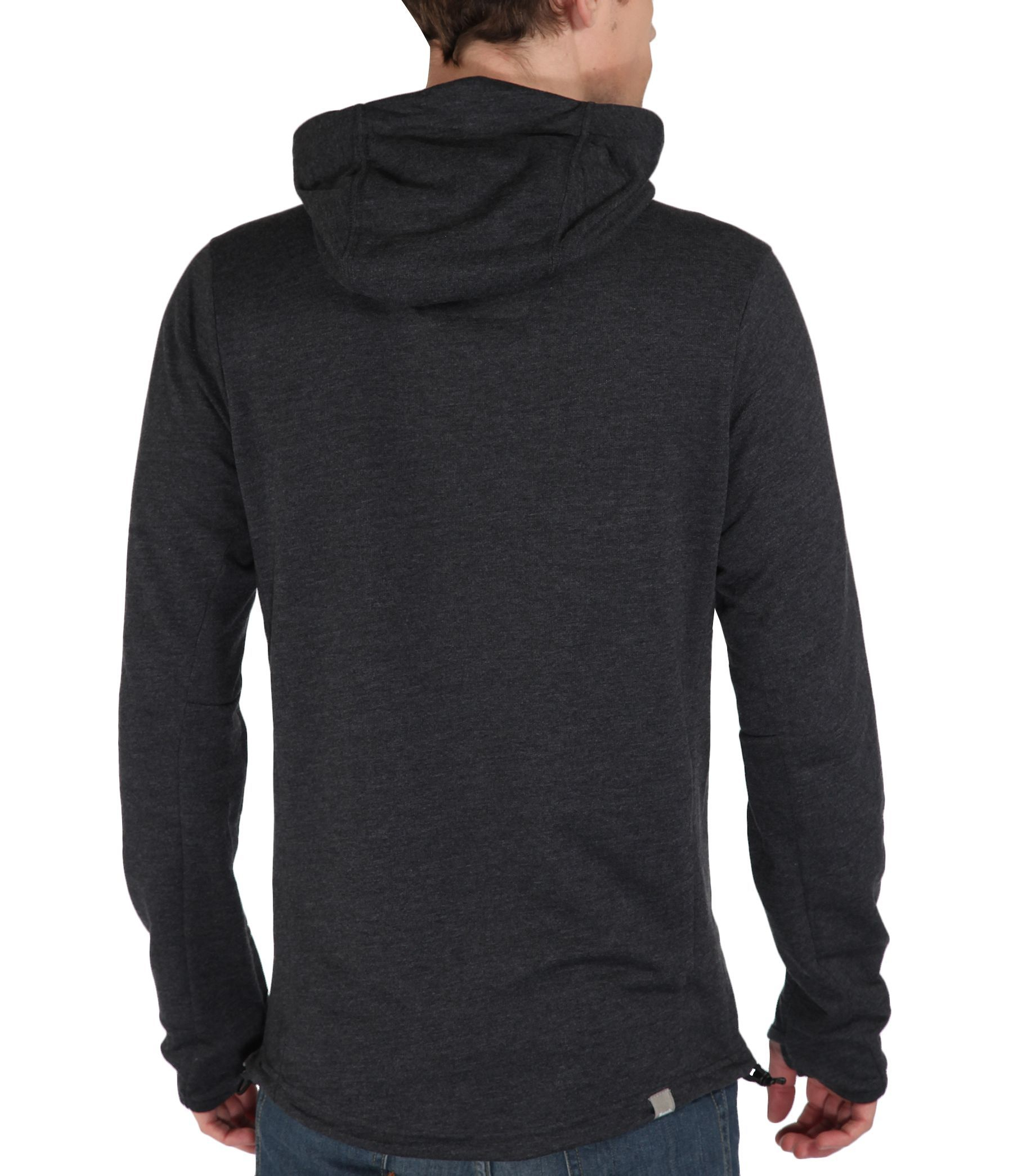 Bench Achiever Plain Zip Thru Hoodie In Black For Men Lyst
