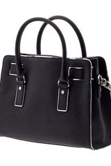 Michael By Michael Kors Hamilton Specchio Ew Satchel in Black - Lyst