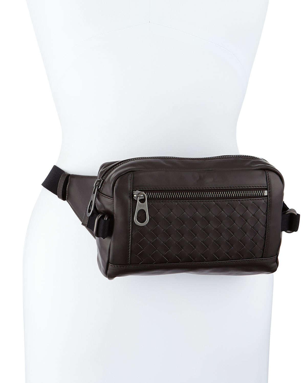 Lyst Bottega Veneta Woven Leather Belt Bag In Brown For Men