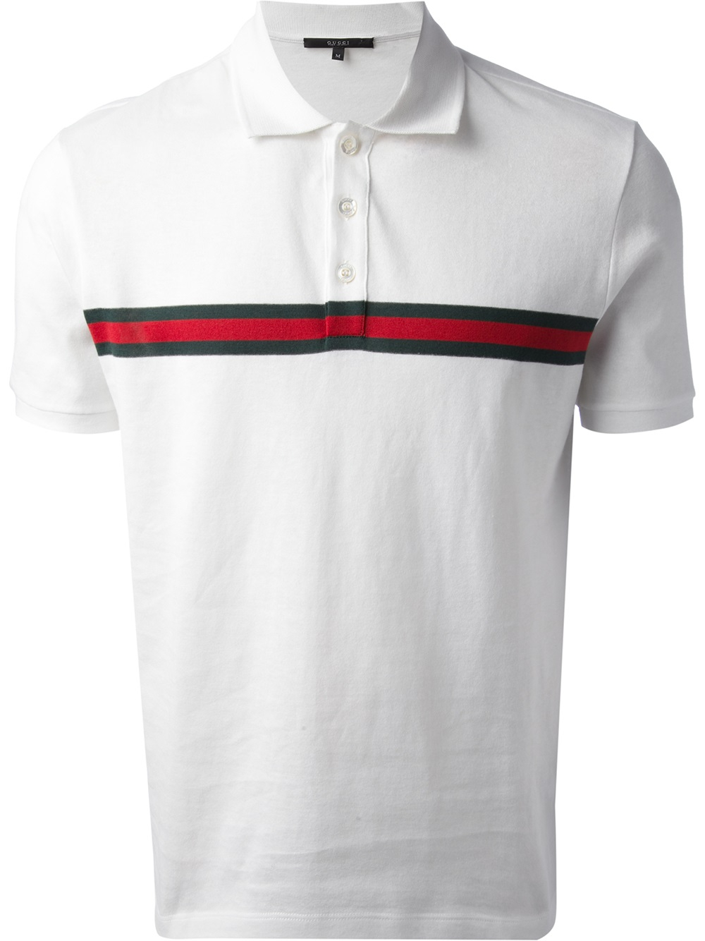 Gucci Short Sleeve Polo Shirt in White for Men | Lyst
