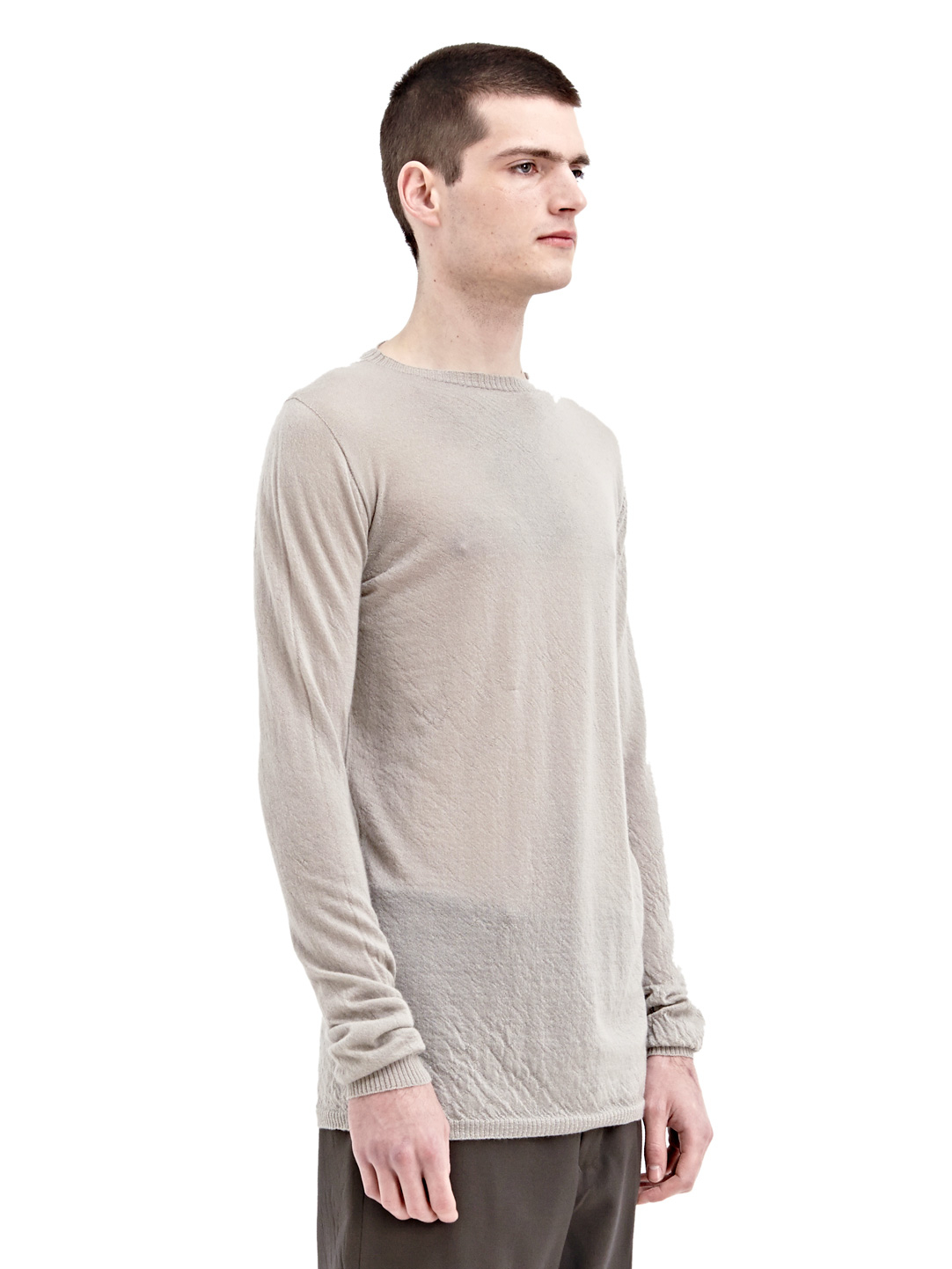 Rick Owens crew neck rib knit sweater Free Shipping Popular Cheap Sale Enjoy UfxZ0RF