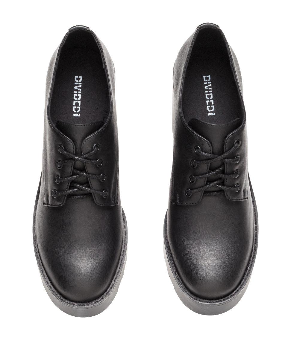 h m platform shoes in black lyst