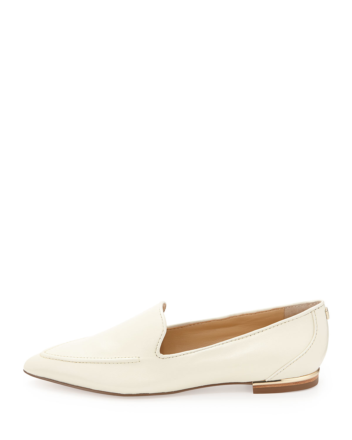 Ivanka Trump Zariner Pointed-Toe Leather Flat in White (IVORY) | Lyst
