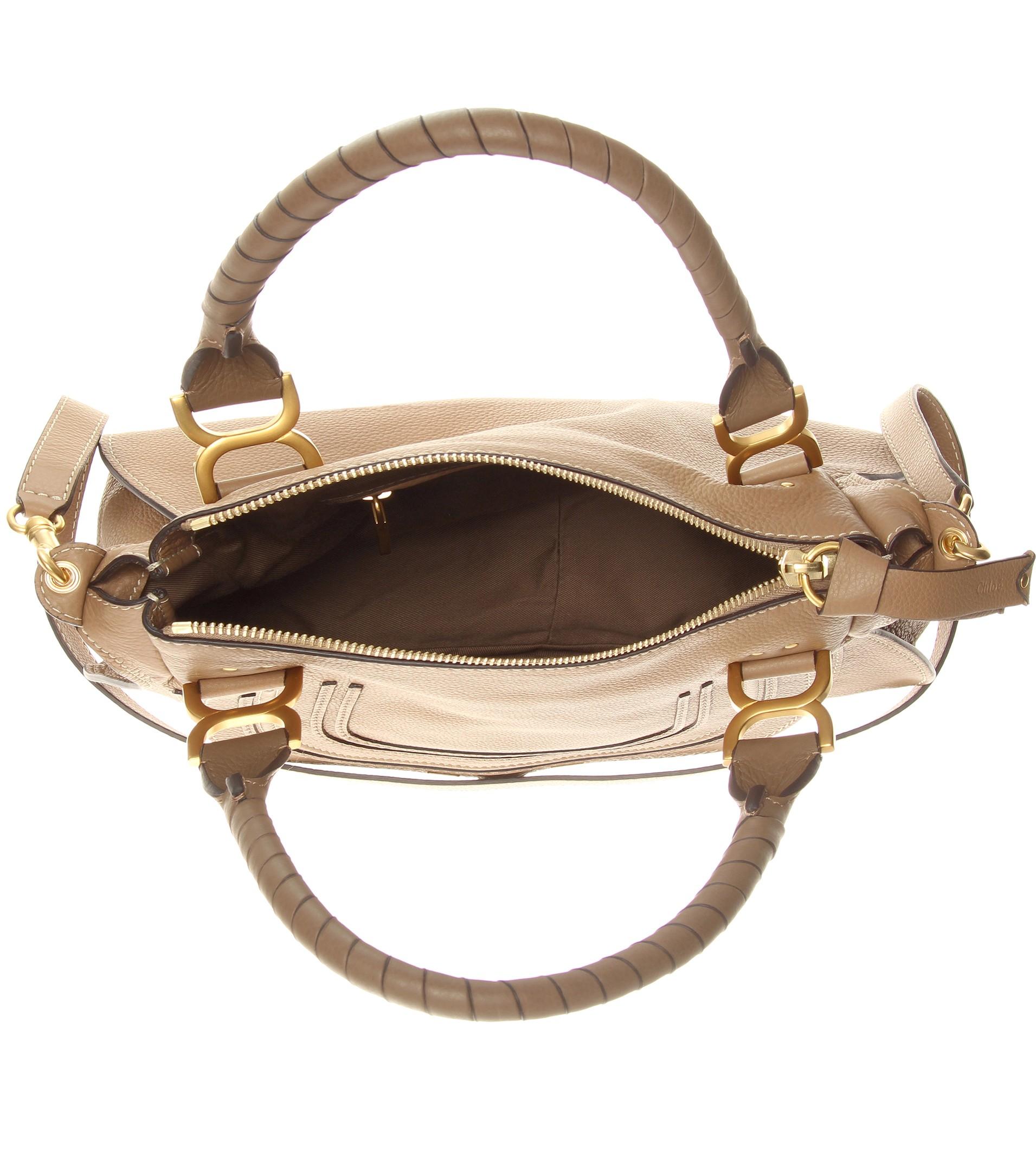 chloe keri medium shearling tote bag