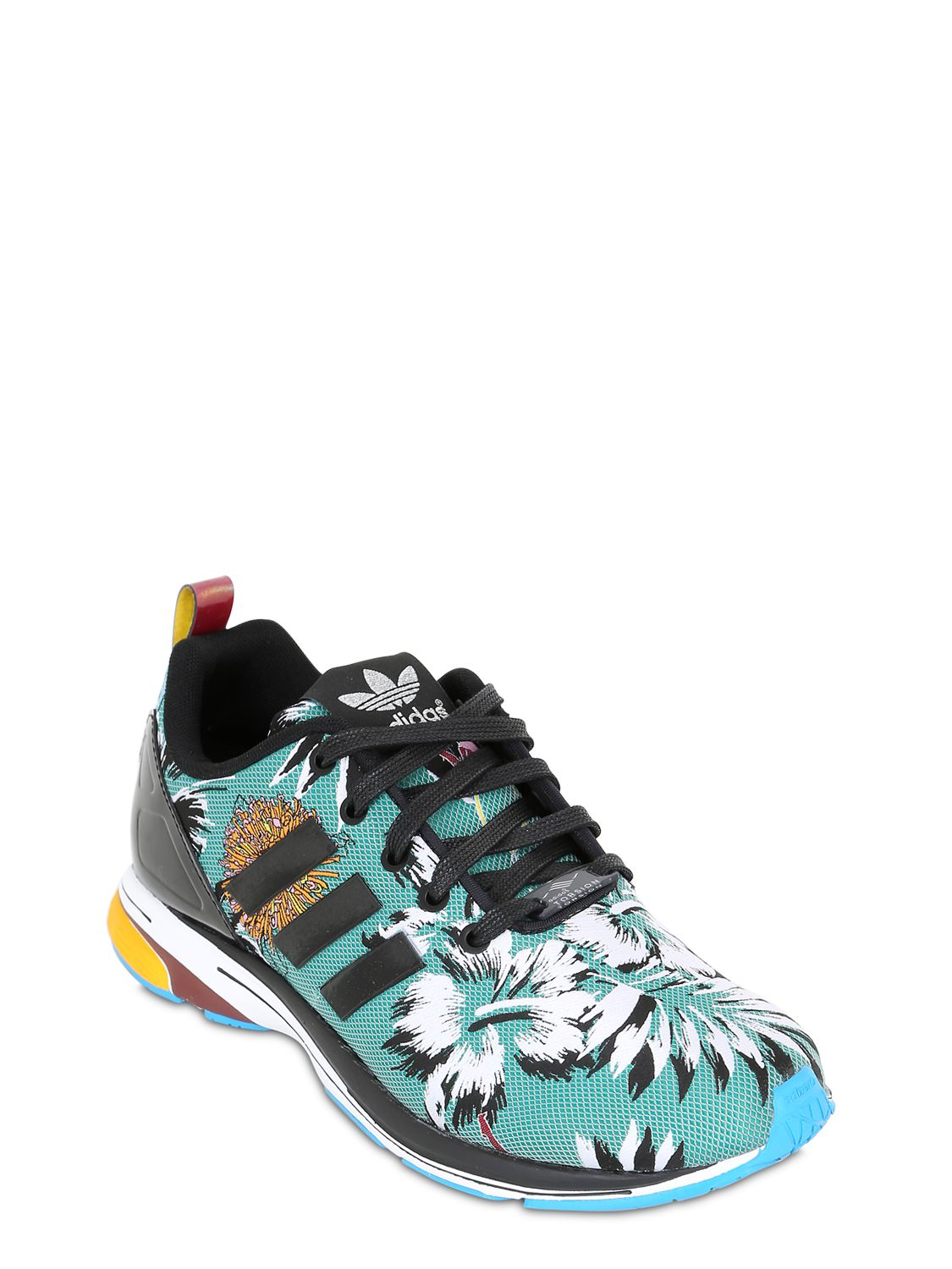 Lyst Adidas Originals Zx Flux Tropical Print Jacquard
