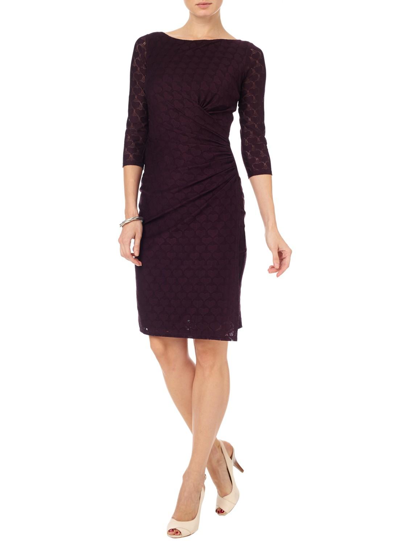 Phase Eight Textured Heart Dress In Purple Lyst Clarette Wedges Coraline Black Gallery