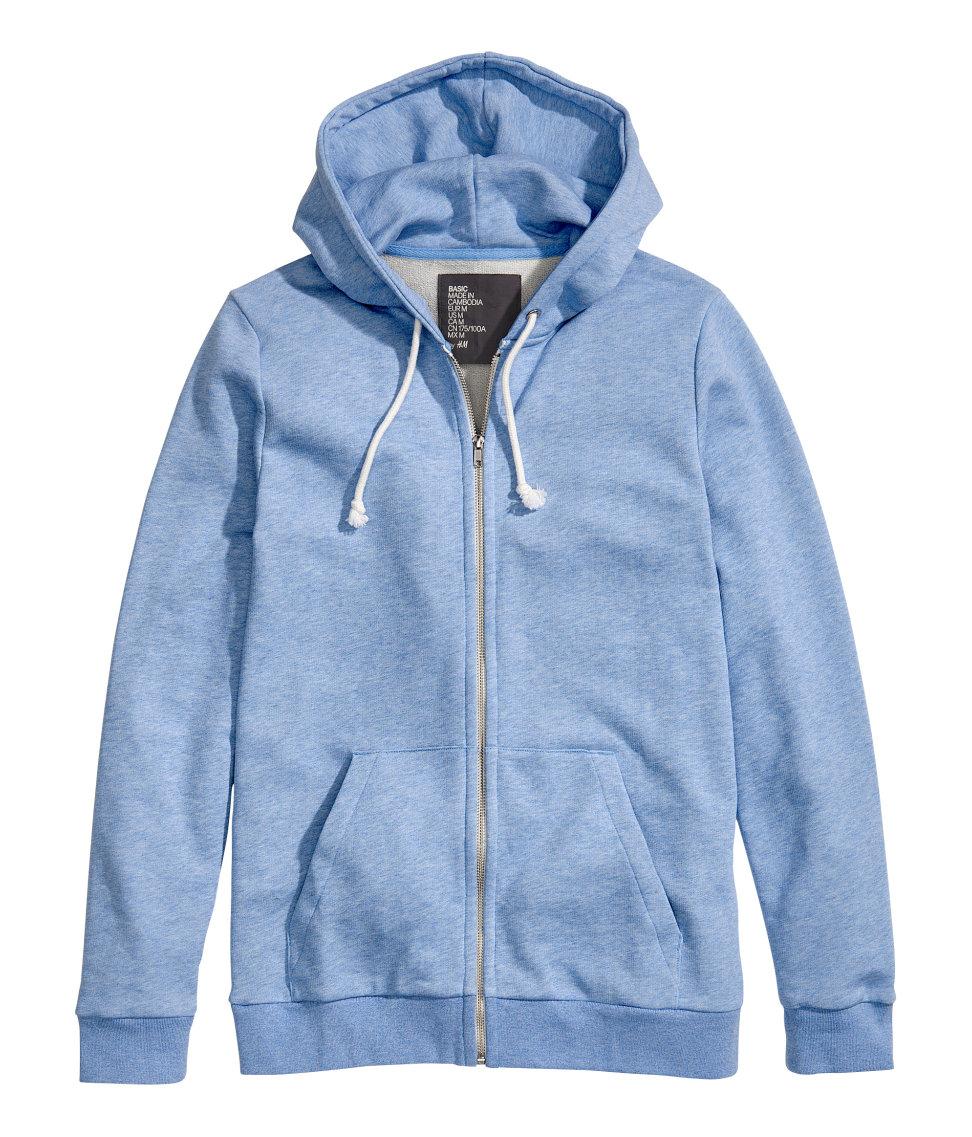H&m Hooded Jacket in Blue for Men | Lyst