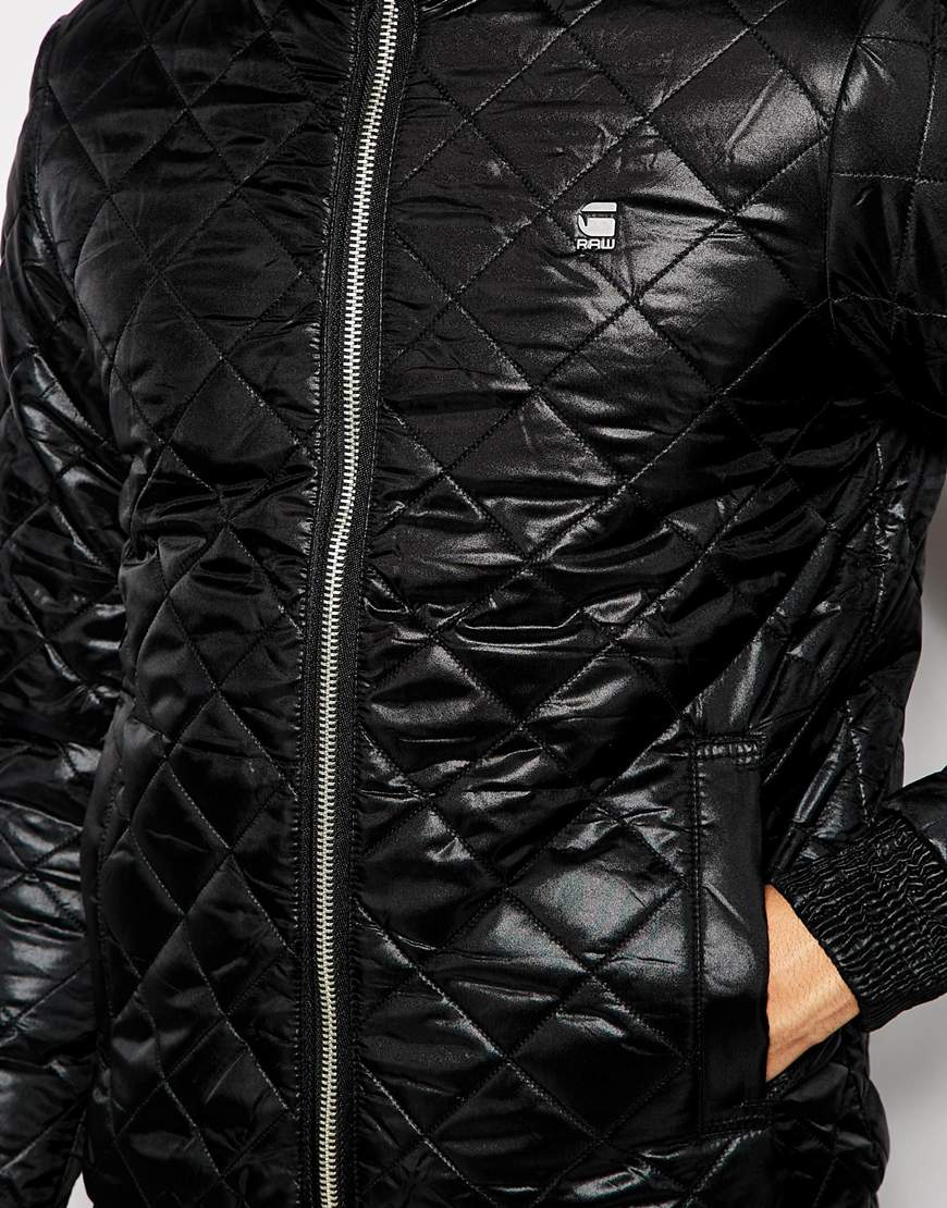 lyst g star raw quilted jacket meefic nylon concealed. Black Bedroom Furniture Sets. Home Design Ideas
