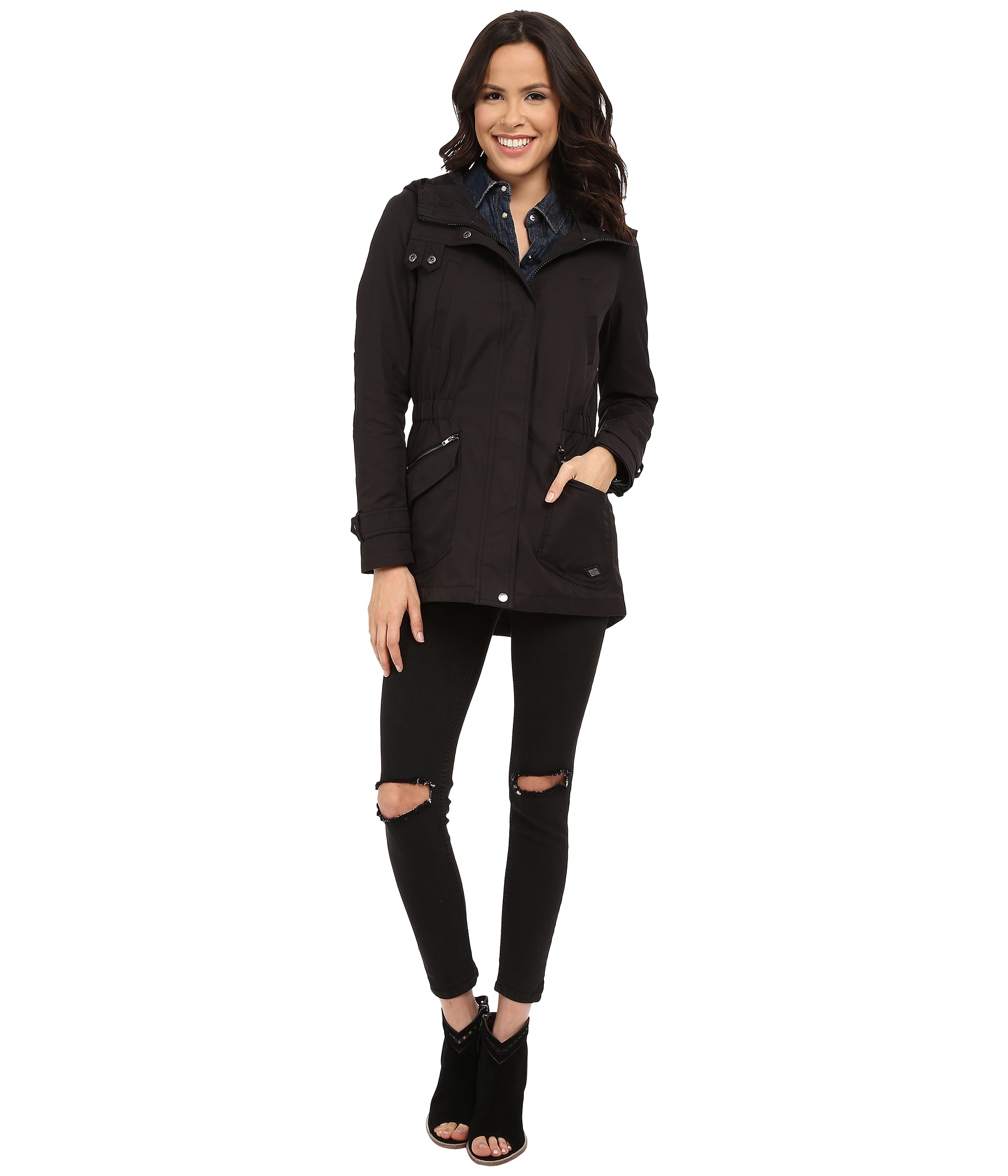 Only Fever Spring Jacket in Black | Lyst