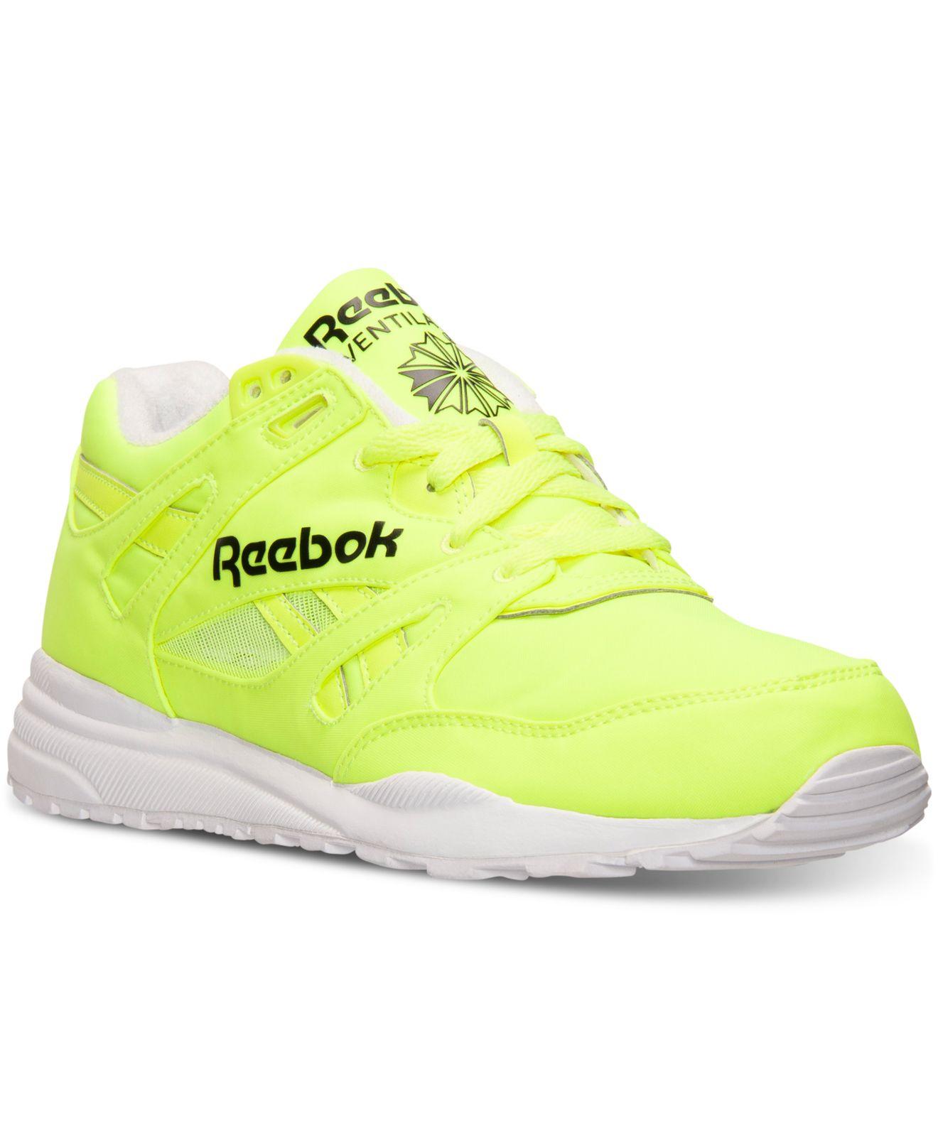 38166793f81d Lyst - Reebok Men s Ventilator Day Glow Casual Sneakers From Finish ...