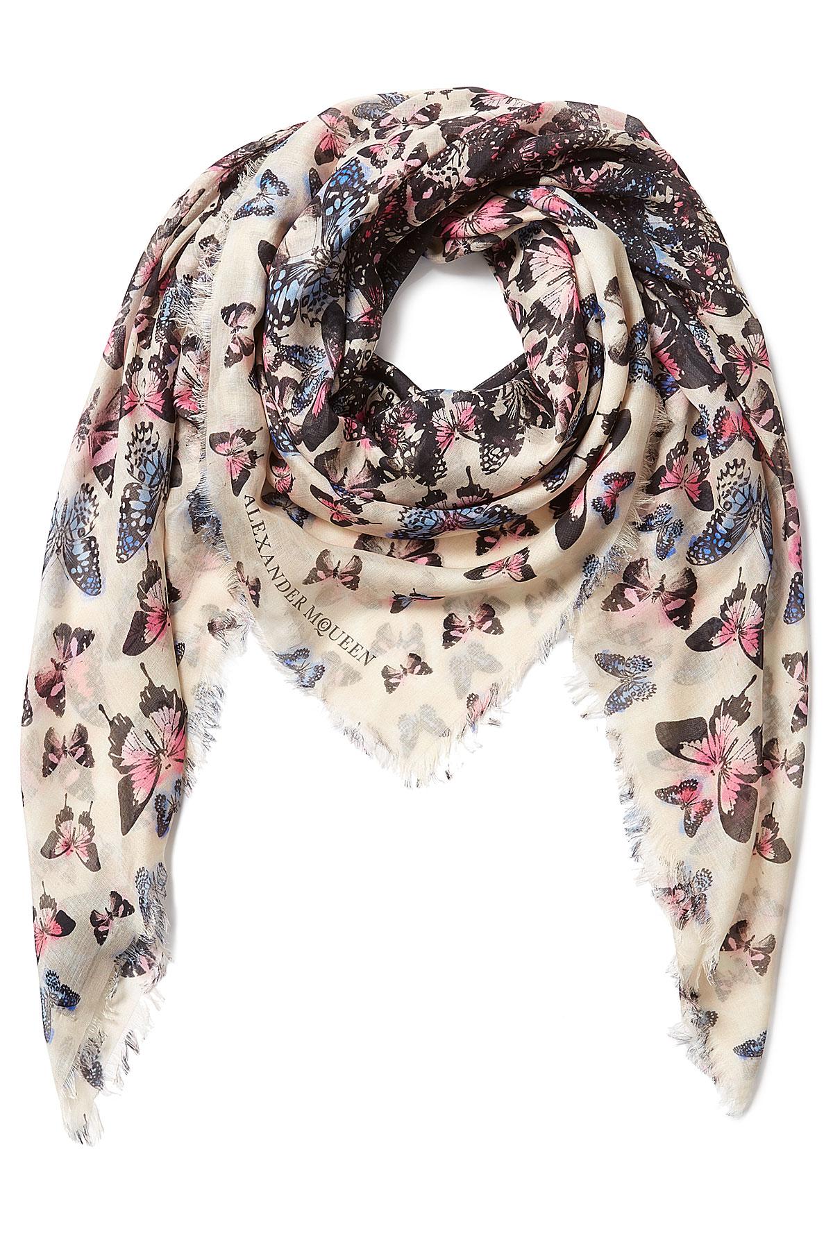 butterfly print scarf - Black Alexander McQueen d9u4C4dq