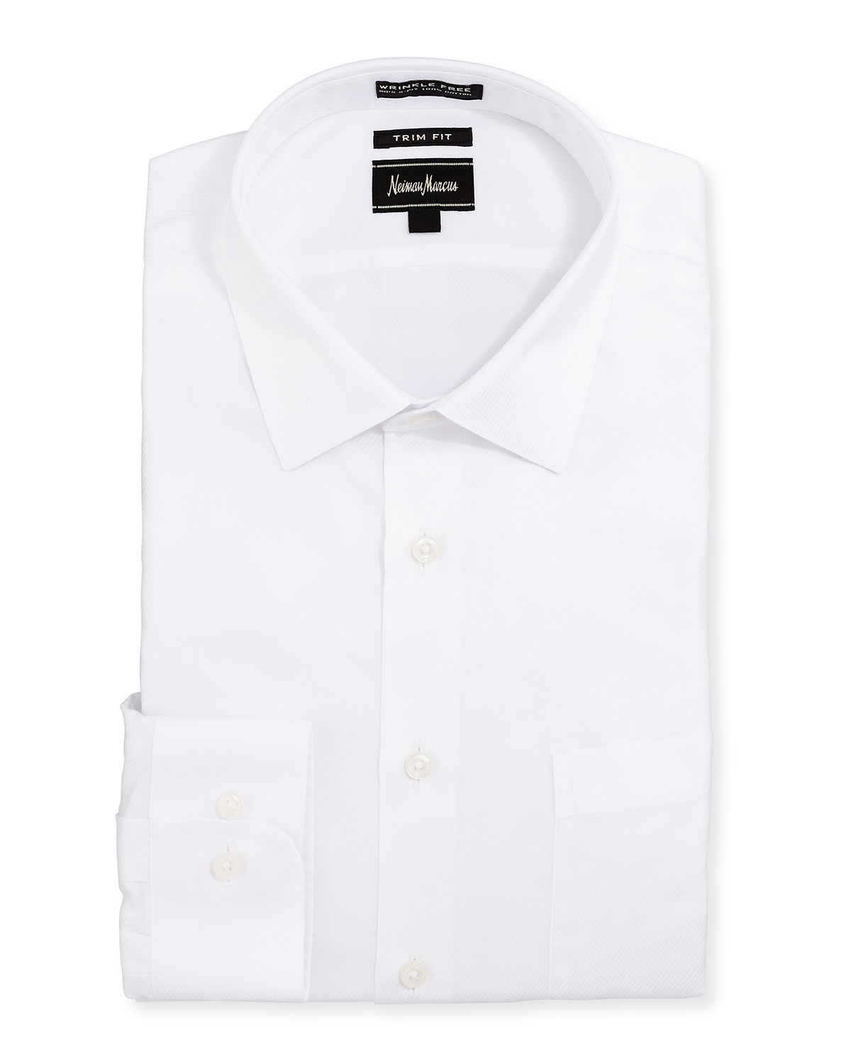 Neiman marcus trim fit non iron skinny stripe dress shirt for White non iron dress shirts