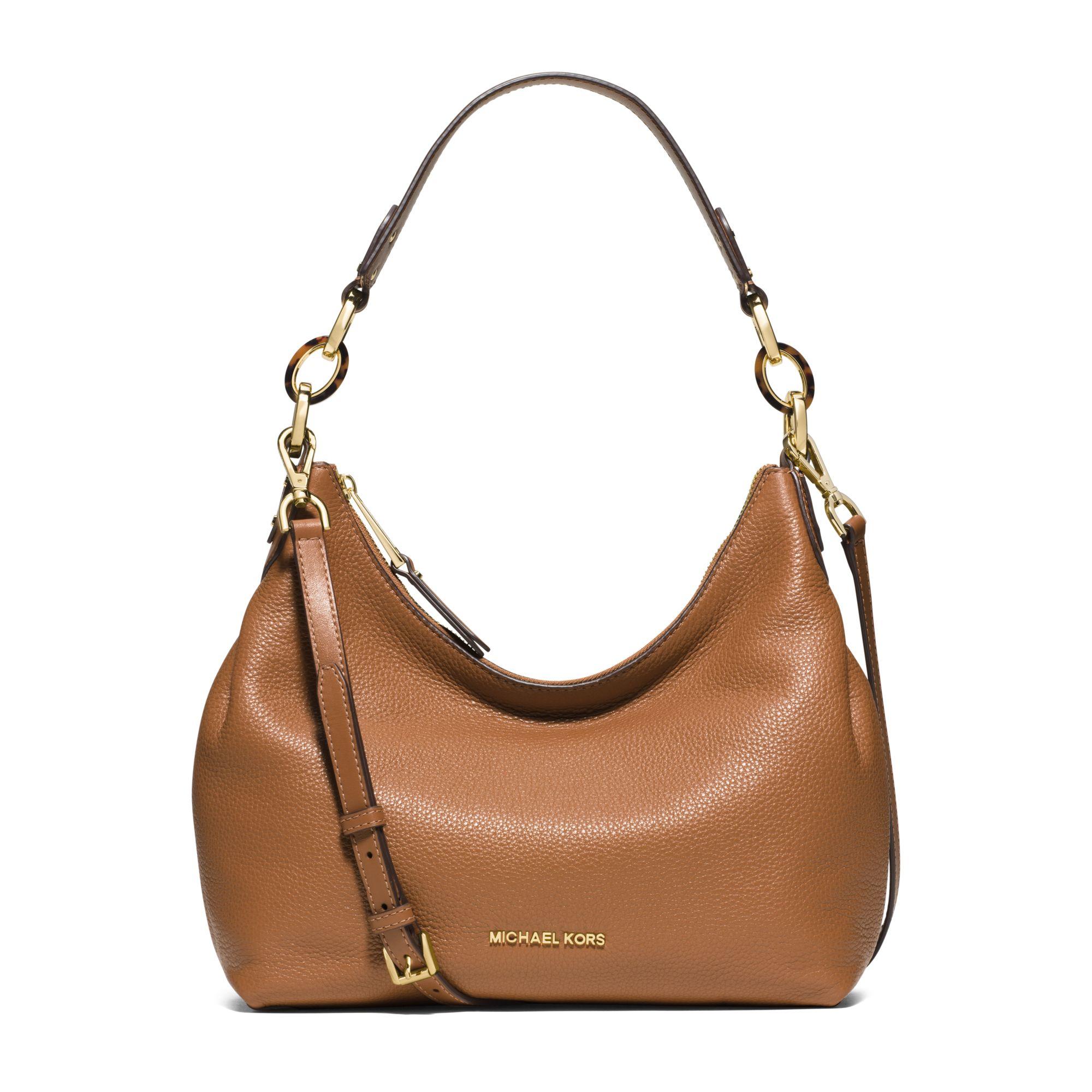 4518f7044006 Lyst - Michael Kors Isabella Medium Leather Shoulder Bag in Brown