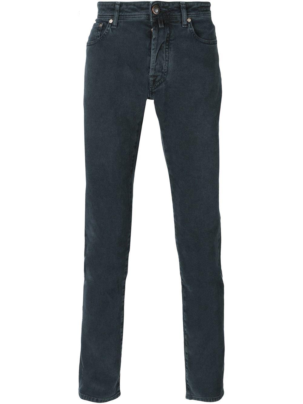 Lyst jacob cohen slim fit jeans in gray for men - Jacob cohen denim ...