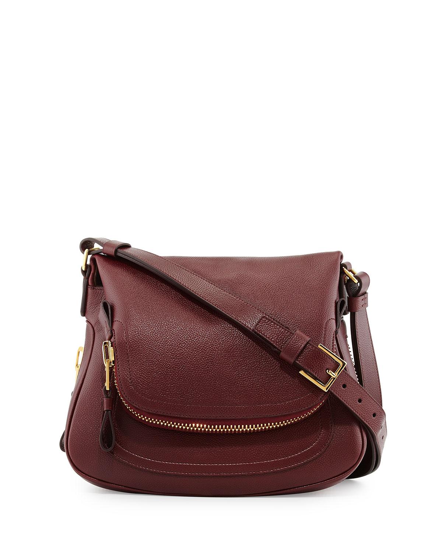 tom ford jennifer medium leather shoulder bag in red lyst. Black Bedroom Furniture Sets. Home Design Ideas