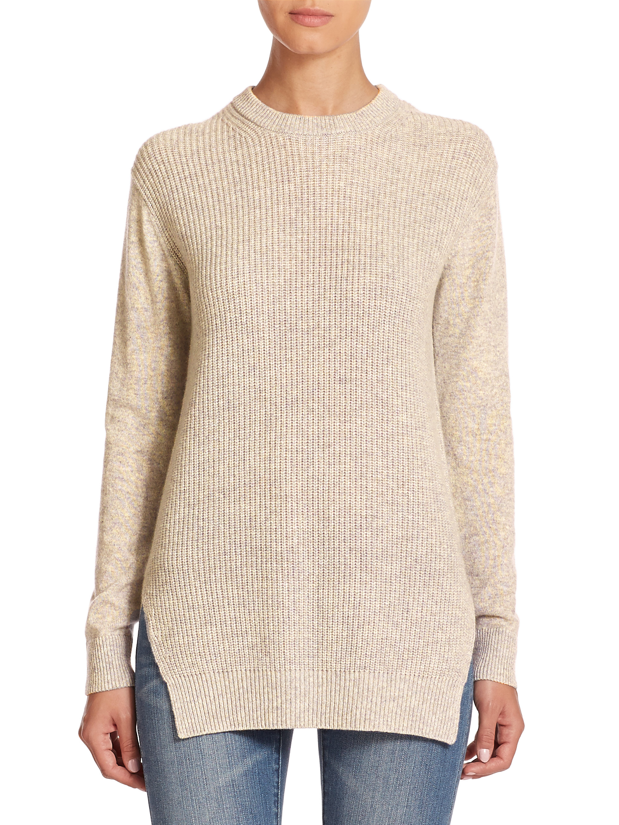 e3451bd7d MICHAEL Michael Kors Shaker-knit Cashmere Sweater in Natural - Lyst