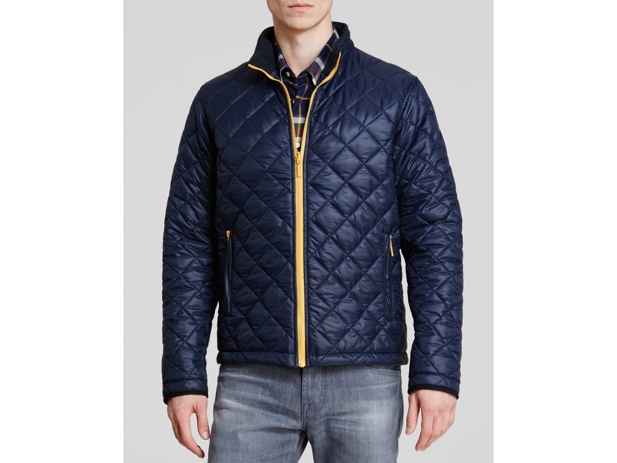 Barbour Kellen Quilted Jacket in Blue for Men | Lyst : navy blue quilted coat - Adamdwight.com