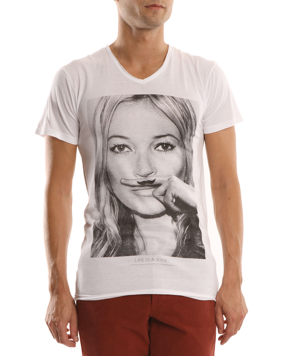 eleven paris kate moss white t shirt in white for men moss lyst. Black Bedroom Furniture Sets. Home Design Ideas