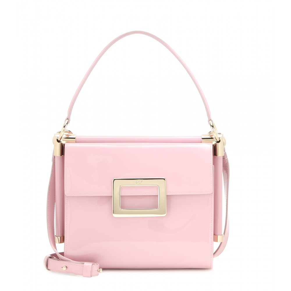 af7b1d96080c Lyst - Roger Vivier Miss Viv  Small Patent Leather Shoulder Bag in Pink