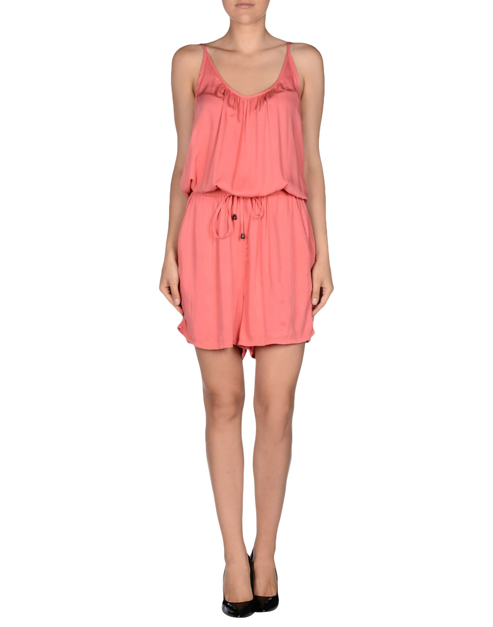 vero moda jumpsuit in pink coral save 20 lyst. Black Bedroom Furniture Sets. Home Design Ideas