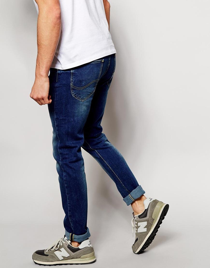 Splash Skinny Dark Wash Lee Sea Blue Luke In Jeans Fit Lyst 7gYqtBqw