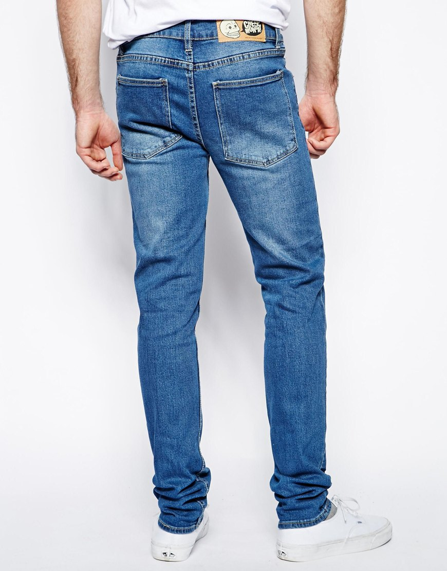 cheap monday jeans tight skinny fit in base dark blue. Black Bedroom Furniture Sets. Home Design Ideas