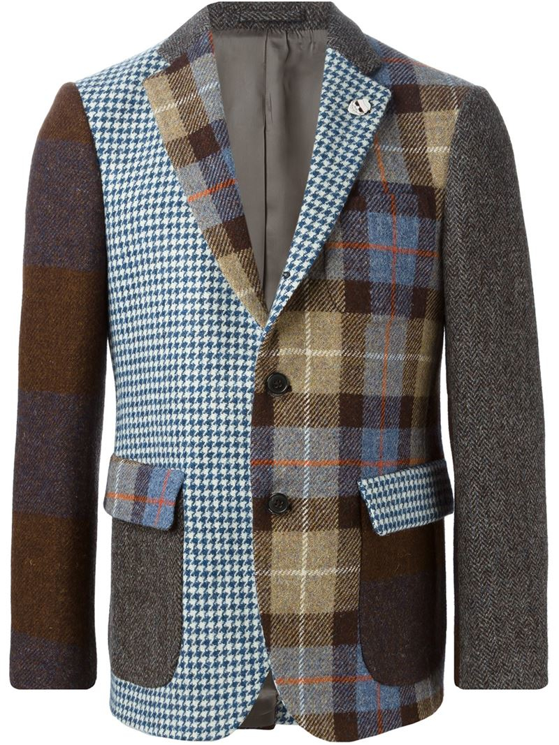 Lyst Wooster Lardini Patchwork Blazer For Men