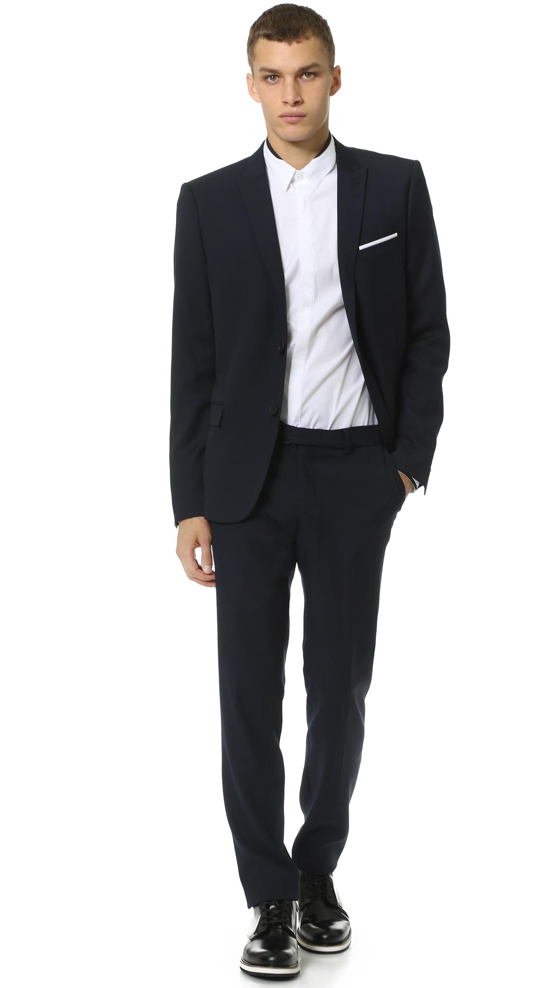 fec3ee8e4e5 The Kooples Super 100s Suit Jacket in Blue for Men - Lyst
