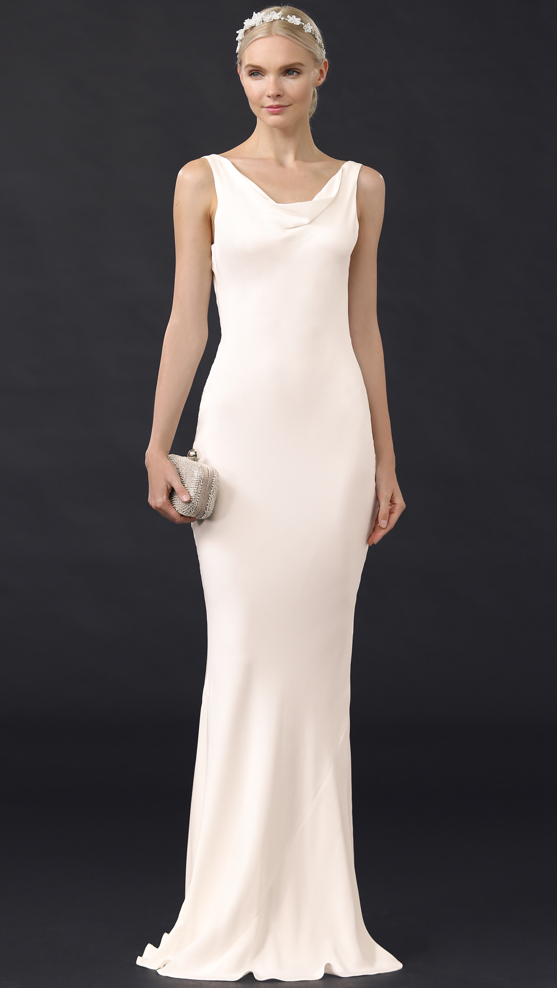 Stone cold fox delarosa gown in white lyst for Stone cold fox wedding dress
